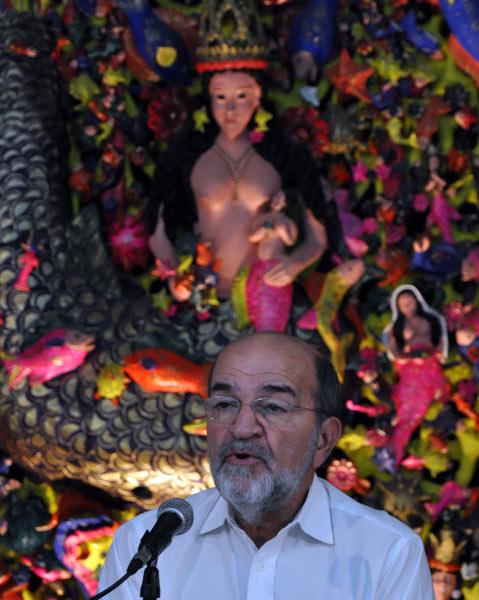 Osvaldo Martínez en Casa de las Américas, hoy. Foto: La Jiribilla