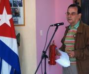 """Tubal Páez en la entrega del Premio a la dignidad para """"La luz en lo oscuro"""". Foto: Raúl Pupo"""