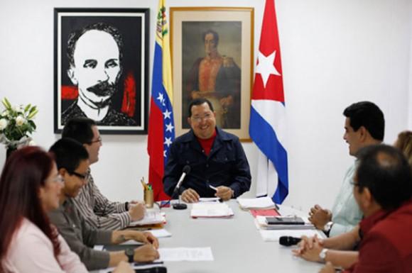 Presidente Hugo Chávez en programa especial en Cuba. Foto: AVN