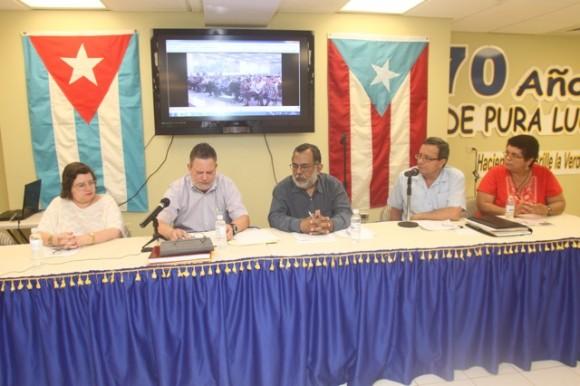 """Presentación del libro """"Nuestro deber es luchar"""" en San Juan, Puerto Rico."""