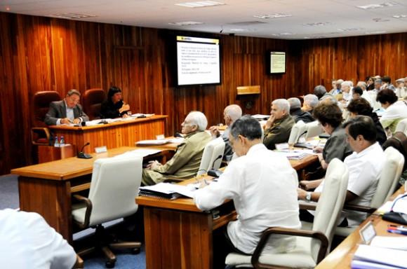 Reunión ampliada del Consejo de Ministros. Foto: Raúl Abreu