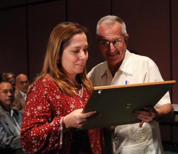 Rosa Miriam Elizalde, Premio Juan Gualberto Gómez, Periodismo Digital. Foto: Ismael Francisco González