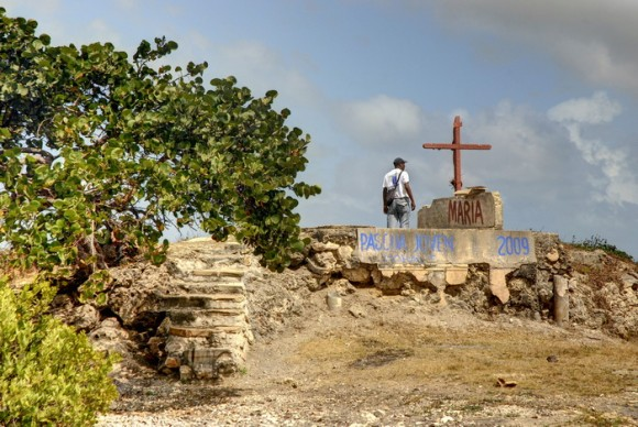 El Cayo de la Virgen, ubicado en Playa Morales,  en el interior de la Bahía de Nipe, es el sitio por donde entró a Cuba la imagen de la Virgen de la Caridad, ubicado en el municipio de Mayarí, provincia de Holguín, el 20 de marzo de 2012. AIN FOTO/Juan Pablo CARRERAS