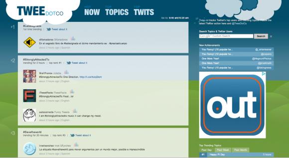 El sitio TweetDotCo ubicó en el tercer lugar mundial de Twitter la etiqueta #SavetheWorld, a las 10.00 am