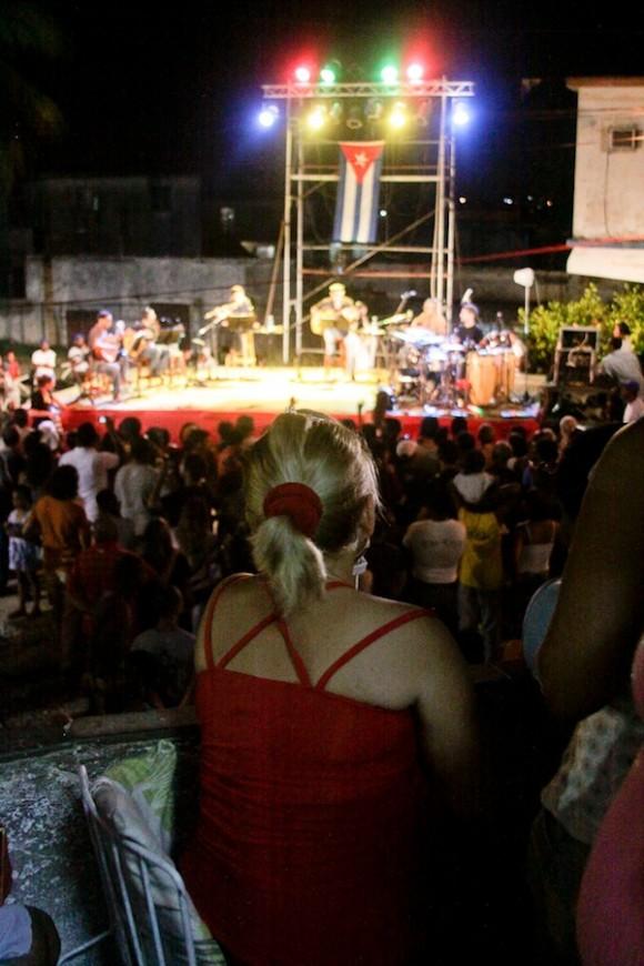 Desde la sala Silvio en vivo. Foto: Alejandro Ramírez