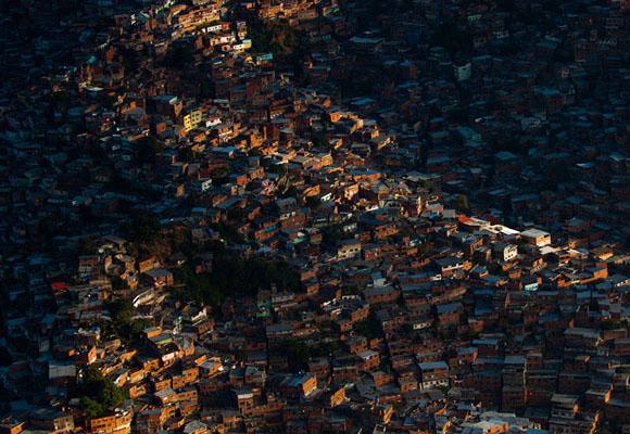 Poblado de Petare, al este de Caracas. Foto: Leo Ramirez/AFP