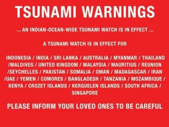 Alerta de Tsunami. Foto: @manga_oz10 vía Twitter
