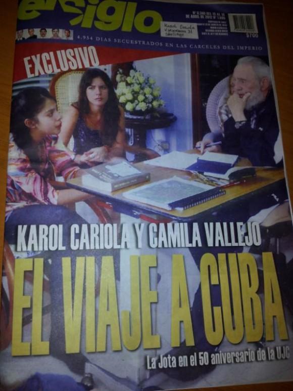 Reportaje de El Siglo. Foto: @karolcariola via Twitter