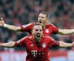 Celebración del gol. Foto: AFP