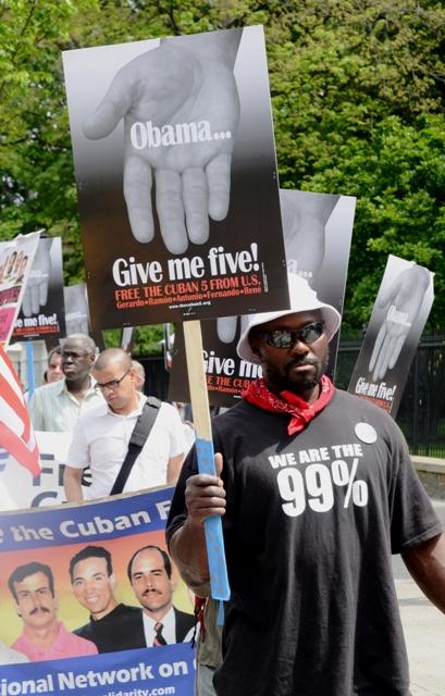 Cinco días por los Cinco en la Casa Blanca. Foto: Bill Hackwell