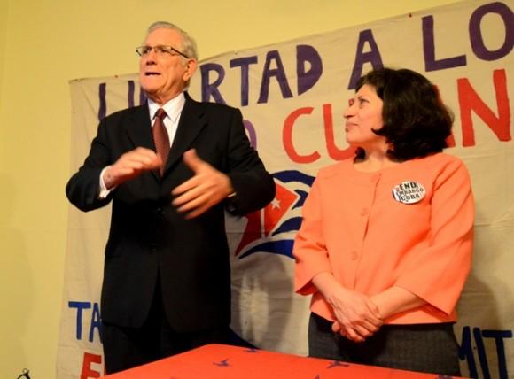 Jorge Bolaños, Jefe de la Oficina de Intereses de Cuba en EEUU, en el encuentro en Mariland. Foto: Bill Hackwell