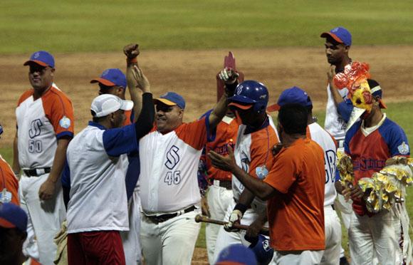 Sanctis Spiritus celebra la victoria. Foto: Ismael Francisco/Cubadebate.
