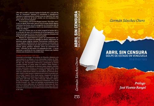 """Cubierta del libro """"Abril sin censura"""""""