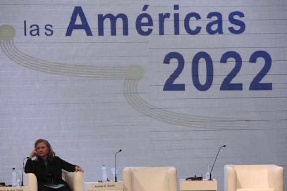 La Secretaria de Estado Hilary Clinto en la Cumbre de las Américas en Cartagena, el 13 de abril de 2012. Foto: Fernando Llano/ AP