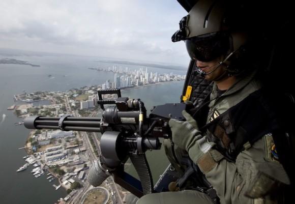 Cartagena bajo fuerte dispositivo de seguridad. Foto: AP