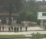Disturbios estudiantiles estallaron hoy en la Universidad Nacional, la principal de Colombia, en rechazo a la visita que realizará a partir de mañana viernes el Presidente de Estados Unidos, Barack Obama. Foto: Twitter