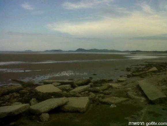 El mar se retira en las Islas Andamán. Foto: Twitter