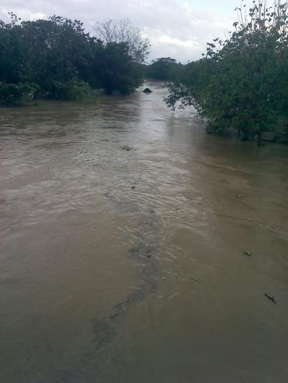 El Río Guamá crecido a más no poder