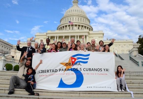 En el Capitolio por los Cinco. Foto: Bill Hackwell