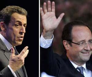 Francois Hollande y Nicolas Sarkozy, los principales competidores