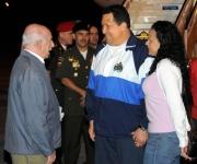 El mandatario venezolano llegó a la isla caribeña acompañado por su hija Rosa Virginia. Foto: Roberto Ruiz