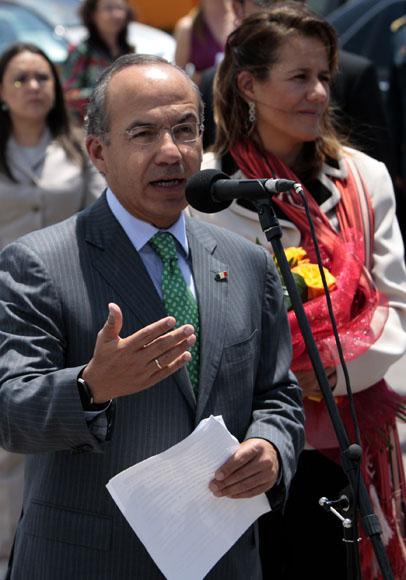 Llega a la Habana Felipe Calderon y ofrece declaraciones a la prensa. Foto: Ismael Francisco/Cubadebate