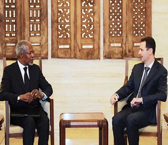 Kofi Annan y Bashar Al Assad