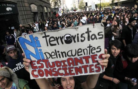 manifestación en Chile