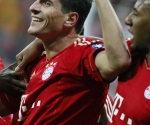 Mario Gómez celebra su gol. Foto: Reuters