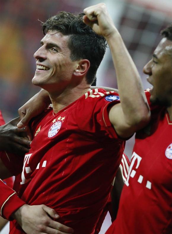 Mario Gómez con el Bayern de Munich