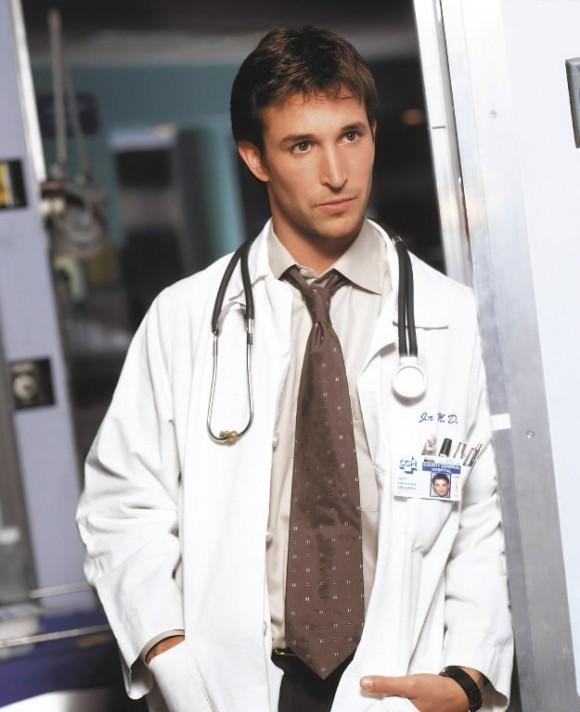 Noah Wyle en el rol de Dr. John Truman Carter III, de la serie