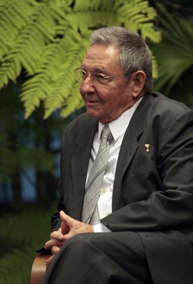 Raul Castro presidente de cubano, durante las conversaciones oficiales con el presidente de Mexico Felipe Calderon. Foto: Ismael Francisco/Cubadebate.