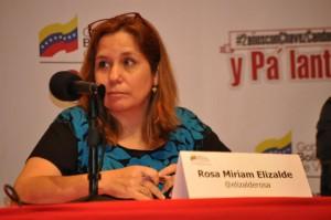 Rosa Miriam en el evento por los dos años de @chavezcandanga. Foto: MINCI