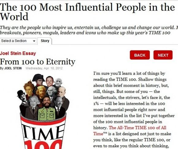El artículo de Time con la ilustración que lo acompaña.
