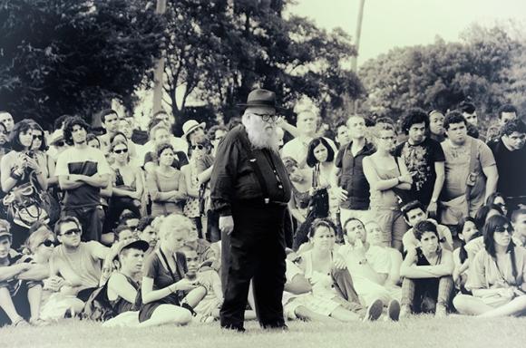 """Aktion 135"", de Hermann Nitsch. Foto: Olivia Prendes/Cubadebate"