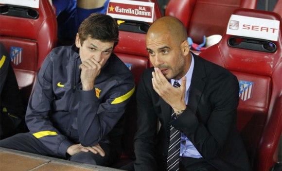 Guardiola y Tito. Tito y Guardiola. Foto: Rafa Casal
