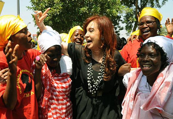 Cristina Fernández de Kirchner en Angola. Foto: AIN