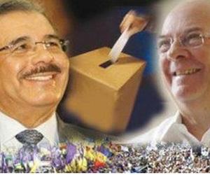 Danilo Medina e Hipólito Mejía, los principales rivales