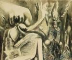 "La pintura ""Idolo"" del fallecido artista cubano Wilfredo Lam."