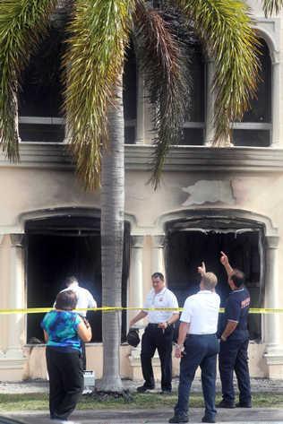 Lo daños al local de Airline Brokers, con sede en Coral Gables, fueron extensos. Foto: El Nuevo Herald