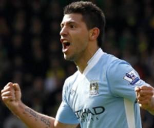 Agüero ha sido el máximo goleador de la temporada del Manchester City. Foto: AFP