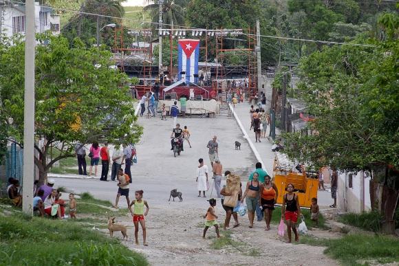 Vista del escenario desde la loma. Foto: Alejandro Ramírez/Cubadebate