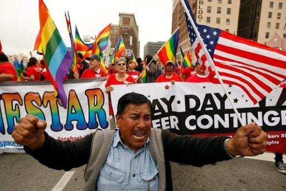 Occupy Wall Street marcha por el Primero de Mayo. Foto: occupywallst.org