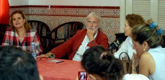 """Conferencia de prensa del actor francés Pierre Richard, realizada en el hotel """"Sevilla"""", de La Habana, el 24 de mayo de 2012  AIN FOTO/Oriol de la Cruz ATENCIO/"""