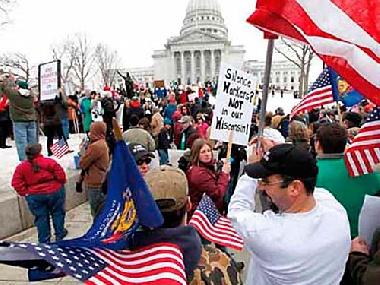 Protesta en Estados Unidos.  Foto de Archivo