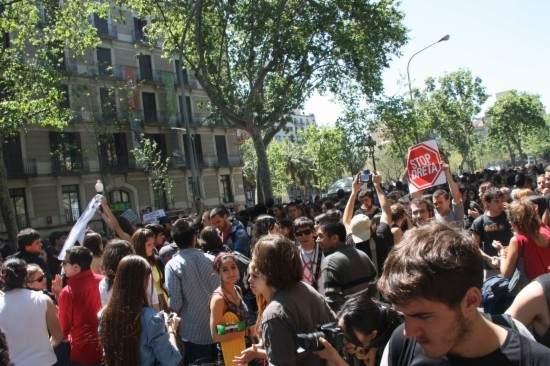 anifestación de estudiantes. La manifestación ha comenzado en la plaza Universitat de Barcelona. (ACN)
