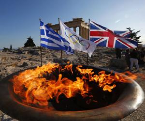 Llama olímpica llega al Reino Unido
