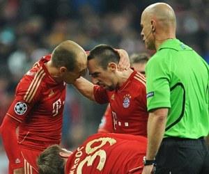 Robben y Ribery discutieron en el entretiempo del juego contra el Real Madrid. Foto: EPA