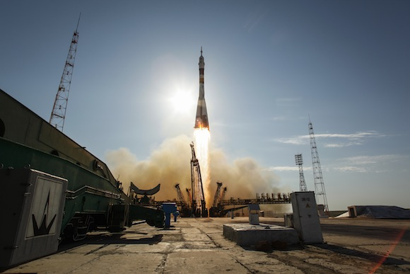 La nave Soyuz TMA-04M despegando en Baikonur. Foto: NASA