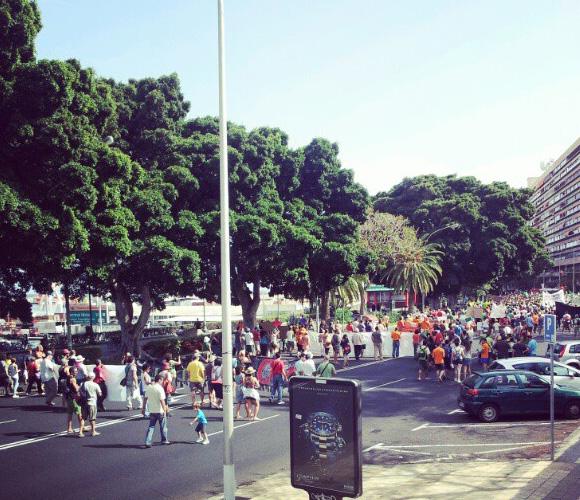 También en Tenerife se congregan los indignados. Fuente:Twitter